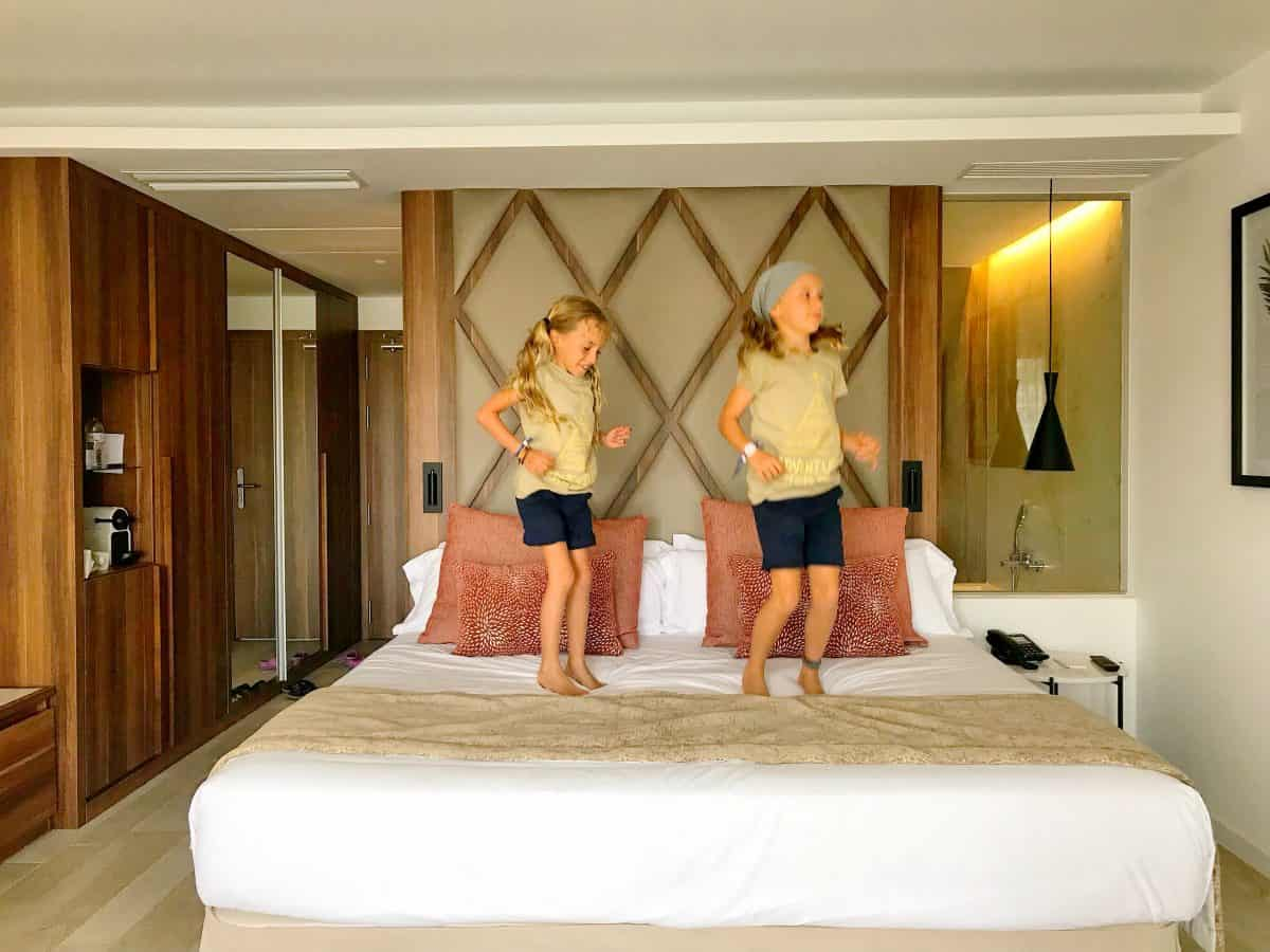 There is no better way to check hotel bed than jumping on it,  europe with kids,  antonio mallorca full video,  barcelona to mallorca flight,  barco a mallorca,  family hotels majorca,  best resorts in majorca