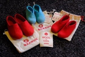 Baabuk slippers, one adult, two kids slippers