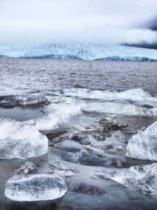 coats suitable for iceland - glacier in Iceland