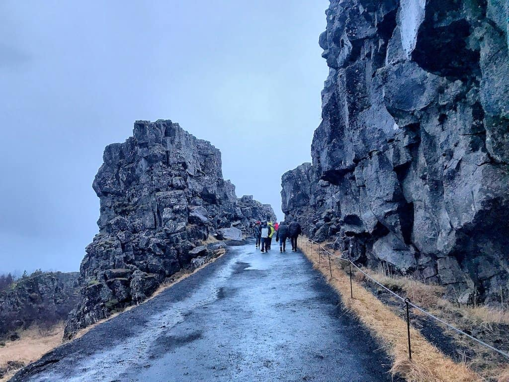 Thingvellir National Park Iceland in December