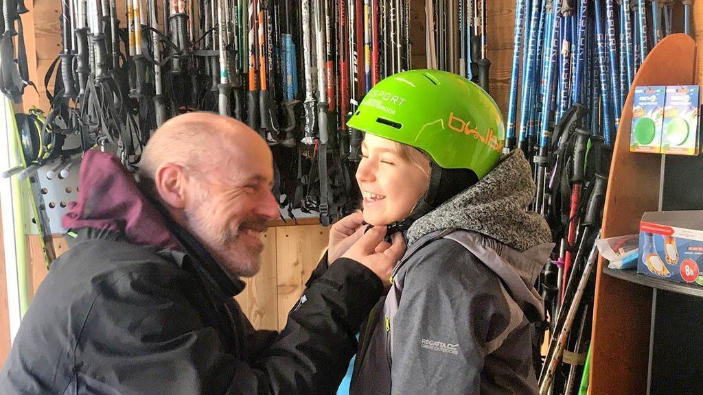 renting Ski equipment in San Martino during our winter holiday in San Martino, Trentino