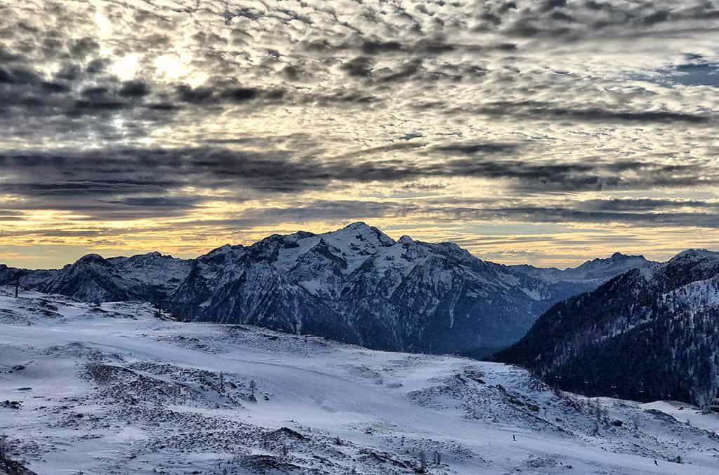winter view from Tongola during winter in San Martino, family winter holiday in San Martino