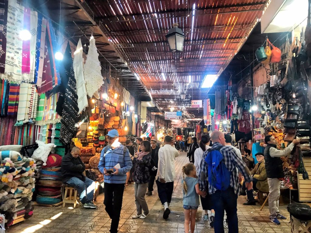Marrakech with children - visiting the souk and keep your kids by their hand all the time